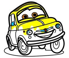 Cartoon Cars Coloring Pages