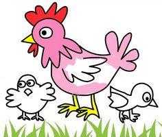 Tavuk Boyama Sayfaları