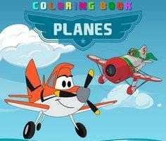 Disney Uçakları Boyama Sayfaları