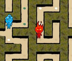 Ateş ve Su Labirent oyunu oyna