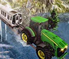 Traktör ile Tren Çekme Simülatörü