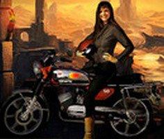 Motosikletli Piramit Yarışçısı 2