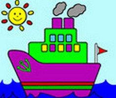 Online Gemi Boyama