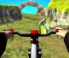Gerçek Dağ Bisikleti Yokuş Aşağı 3D