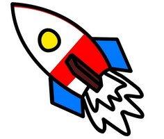 Roket Boyama Sayfaları