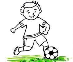 Çocuklar için Futbol Boyama Sayfaları