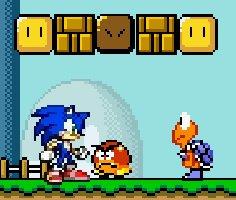 Sonic Mario Dünyasında oyunu oyna