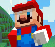 Süper Mario Minecraft Koşucusu