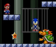 Süper Mario Sonic'i Kurtar oyunu oyna