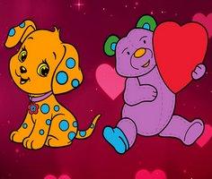 Sevgililer Günü Evcil Hayvanlar Boyama Sayfaları